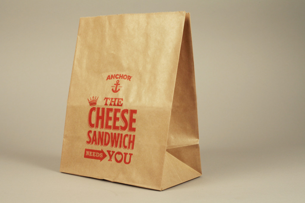 Our specially printed brown paper bags are currently touring the country with Anchor's campaign!