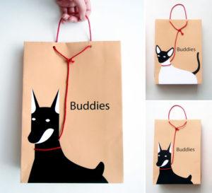 Pet shopping bag designs