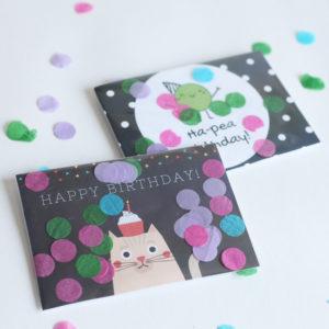 Birthday Card Confetti 1