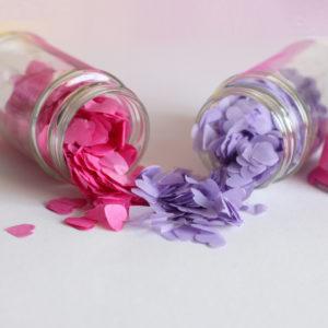 Confetti Pink & Purple Heart