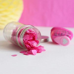 Confetti Pink Heart